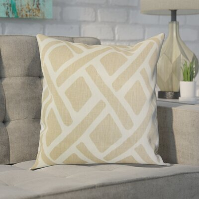 Moton Linen Throw Pillow Color: Sand, Size: 18x18