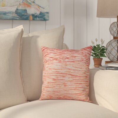 Rocio Ocean View Throw Pillow Size: 18 H x 18 W, Color: Coral