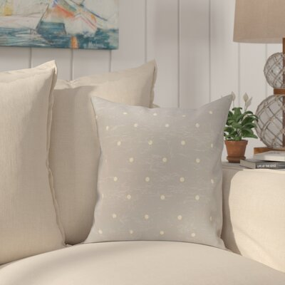 Pembrook Dorothy Dot Geometric Throw Pillow Size: 18 H x 18 W, Color: Gray