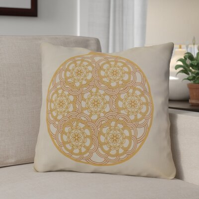 Christmas Decorative Holiday Geometric Print Throw Pillow Size: 16 H x 16 W, Color: Gold