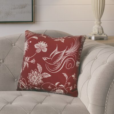 Rolla Decorative Holiday Throw Pillow Size: 18 H x 18 W, Color: Cranberry