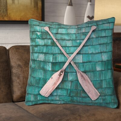 Brushton Double Sided Print Rustic Oars Euro Pillow