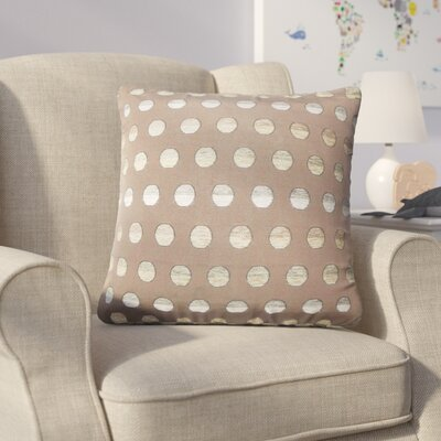 Anthem Polka Dots Throw Pillow Color: Brown