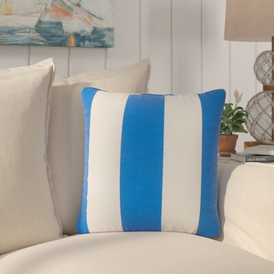 Lozier Striped Throw Pillow Color: Cobalt