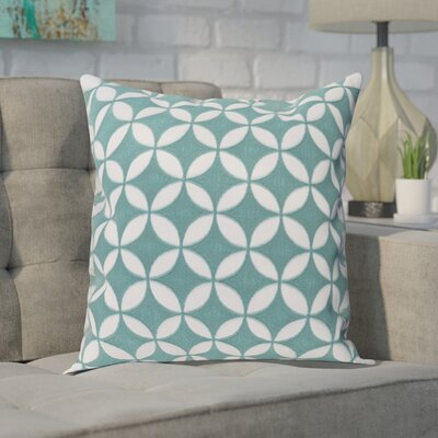 Baur Perimeter 100% Cotton Throw Pillow Cover Size: 22 H x 22 W x 1 D, Color: MintWhite