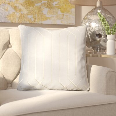 Kaivhon Square Linen Throw Pillow Size: 20 H x 20 W x 4 D, Color: Light Gray