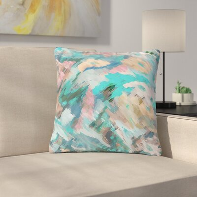 Alison Coxon Giverny Abstract Outdoor Throw Pillow Color: Blue, Size: 18 H x 18 W x 5 D