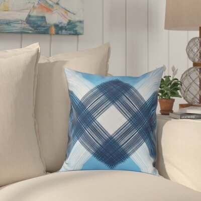 Hancock String Art Geometric Print Outdoor Throw Pillow Size: 18 H x 18 W, Color: Blue