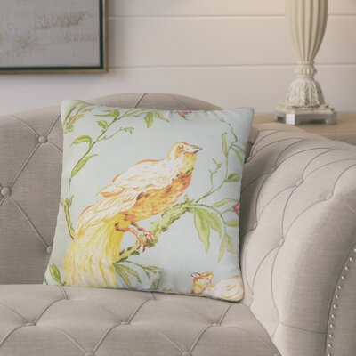 Margarida Floral Cotton Throw Pillow Color: Blue/Green