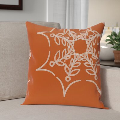 Web Art Holiday Print Throw Pillow Size: 16 H x 16 W, Color: Orange