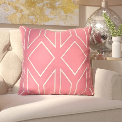 Honiton Linen Throw Pillow Size: 20 H x 20 W x 4 D, Color: Carnation