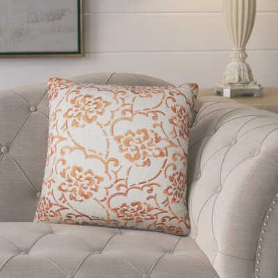 Marques Floral Linen Throw Pillow