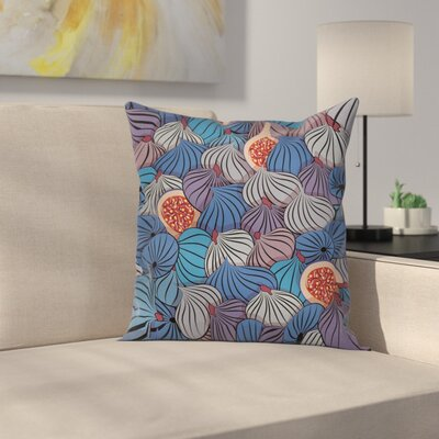 Fig Fruits Square Pillow Cover Size: 18 x 18