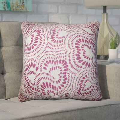 Winburn Floral Cotton Throw Pillow Color: Bourdeaux