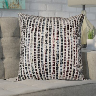 Brielle Cotton Throw Pillow Color: Black