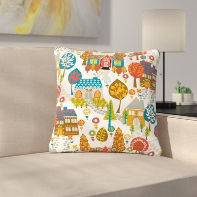 Agnes Schugardt in the Village Vintage Outdoor Throw Pillow Size: 18 H x 18 W x 5 D