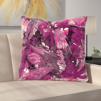 Birds of Prey Throw Pillow Size: 26 H x 26 W x 7 D, Color: Magenta Purple
