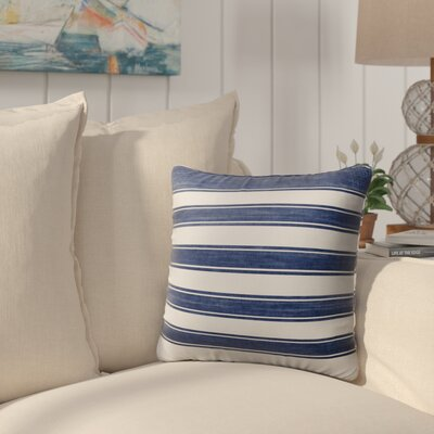 Melton Stripe Burlap Indoor/Outdoor Throw Pillow Size: 16 H x 16 W x 5 D