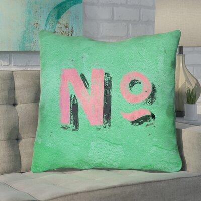 Enciso Graphic Wall 100% Cotton Euro Pillow Color: Green/Pink