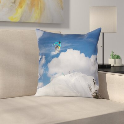 Skiing Pillow Cover Size: 18 x 18
