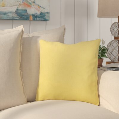 Bayview Eco-Friendly Outdoor Throw Pillow Color: Daffodil