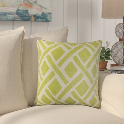 Oakfield Geometric Linen Throw Pillow Color: Green