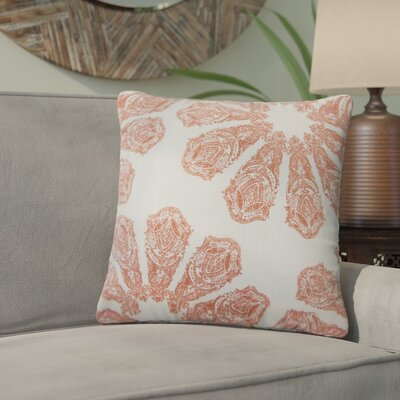 Christy Ikat Cotton Throw Pillow Color: Coral