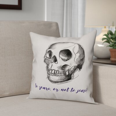 To Scare or Not to Scare Throw Pillow Pillow Use: Outdoor