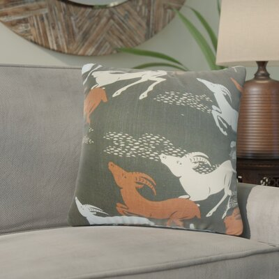 Ash Creek Animal Print Cotton Throw Pillow Color: Black