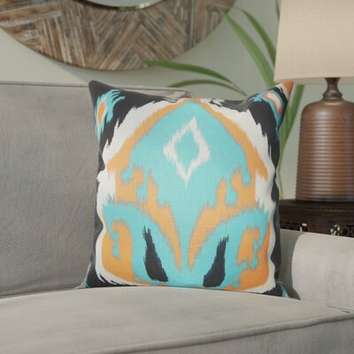 Emmitt Ikat Cotton Throw Pillow Color: Orange, Size: 18 H x 18 W