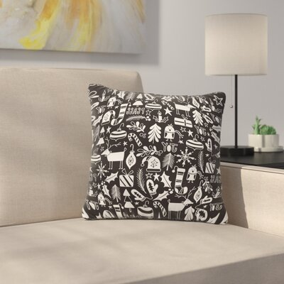 Heather Dutton Peace and Joy Black Throw Pillow Size: 16 x 16