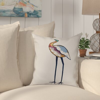 Boubacar Bird Animal Print Throw Pillow Size: 18 H x 18 W, Color: White