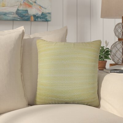 Jasmine Woven Throw Pillow Color: Green