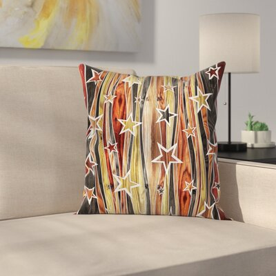 Abstract Art Charming Stars Square Pillow Cover Size: 18 x 18