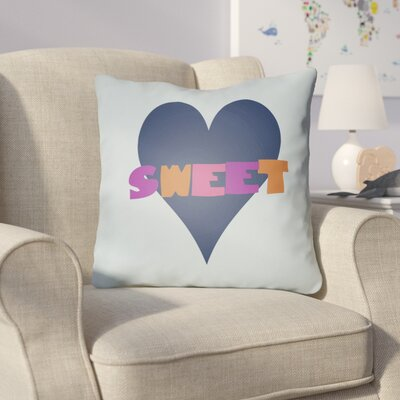 Colinda Sweet Throw Pillow Size: 18 H x 18 W x 4 D, Color: Light Blue