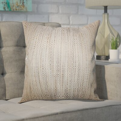 Kardos Throw Pillow Color: Neutral, Size: 18x18
