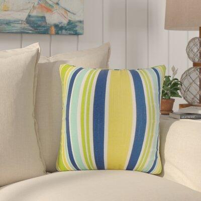 Frances Stripe Cotton Throw Pillow Color: Yellow