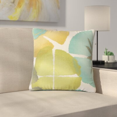 Pohl Floral Cotton Throw Pillow Color: Pool