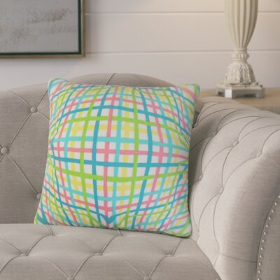 Poulos Plaid Throw Pillow Color: Pink
