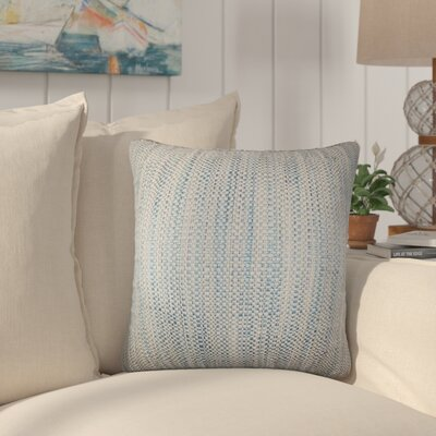 Jasmine Woven Throw Pillow Color: Blue