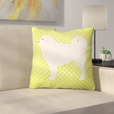 Polish Tatra Sheepdog Indoor/Outdoor Throw Pillow Size: 14 H x 14 W x 3 D, Color: Green