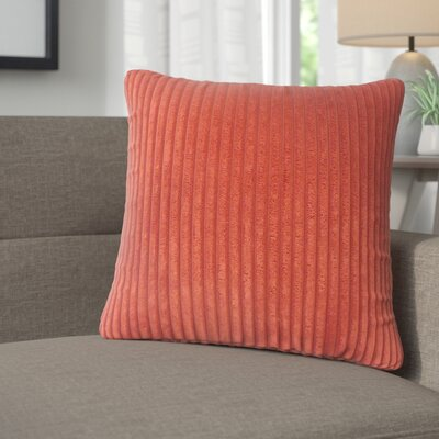 Galilea Solid Throw Pillow Color: Crimson