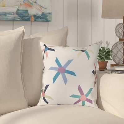 Boubacar Pinwheel Pop Geometric Throw Pillow Size: 18 H x 18 W, Color: Navy Blue