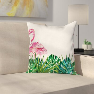 Flamingo Pillow Cover Size: 18 x 18