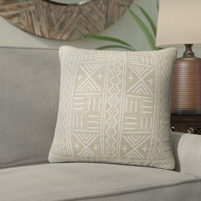 Bemelle Mud Cloth Geometric Throw Pillow Size: 16 H x 16 W, Color: Grey/ Ivory
