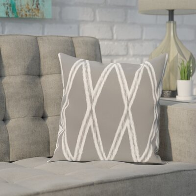 Broadhurst Geometric Print Throw Pillow Size: 16 H x 16 W x 1 D, Color: Classic Gray