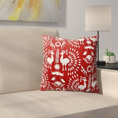 Kaivhon Outdoor Throw Pillow Size: 16 x 16, Color: Red