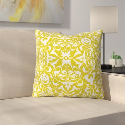 Gothique Throw Pillow Size: 26 H x 26 W x 7 D, Color: Green/White