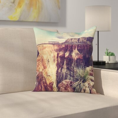 American Case Grand Canyon Scenery Square Pillow Cover Size: 18 x 18