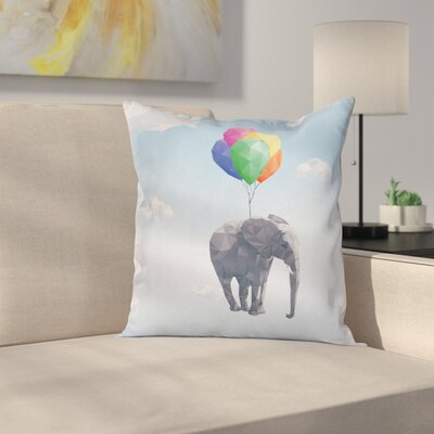 Animal Graphic Print Pillow Cover Size: 16 x 16